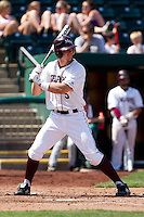 Patrick Drake (5) of the Missouri State Bears at bat during a game against the Wichita State Shockers on April 9, 2011 at Hammons Field in Springfield, Missouri.  Photo By David Welker/Four Seam Images