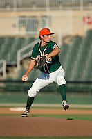 Greensboro Grasshoppers relief pitcher Cody Harris (34) in action against the Kannapolis Intimidators at CMC-Northeast Stadium on August 2, 2015 in Kannapolis, North Carolina.  The Intimidators defeated the Grasshoppers 4-2.  (Brian Westerholt/Four Seam Images)