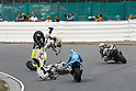 2010/07/18 - MotoGP - Round08 - Sachsenring - Aleix Espargaro (Pramac Racing) Randy de Puniet (Playboy Honda) - Crash -
