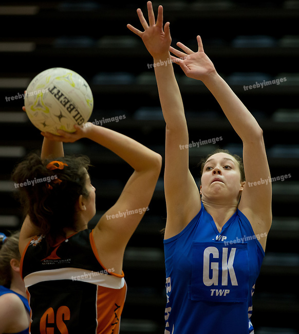 Netball Victoria, V Line State titles 2013<br /> 6/10/2013<br /> <br /> <br /> Photo: Grant Treeby<br /> www.treebyimages.com.au