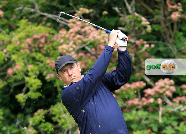 Joe Lyons (Galway) on the 2nd tee during Round 3 of the Irish Mid-Amateur Open Championship at New Forest on Sunday 21st June 2015.<br /> Picture:  Thos Caffrey / www.golffile.ie