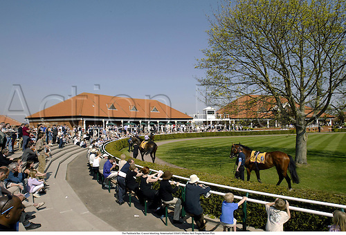 The Paddock Bar. Craven Meeting, Newmarket 030417 Photo: Neil Tingle/Action Plus...2003.horse racing horses venue venues course courses