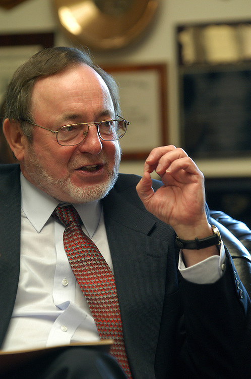 young3/042903  - Rep. Don Young, R-Ak, at an interview in his office