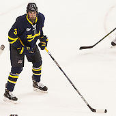 Aaron Titcomb (Merrimack - 3) - The Boston University Terriers defeated the visiting Merrimack College Warriors 4-0 (EN) on Friday, January 29, 2016, at Agganis Arena in Boston, Massachusetts.