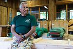 """Joe Williams, Tlingit walking tour guide business owner, """"Where the Eagle Walks."""" Former mayor of Ketchikan Borough. Ketchikan, Alaska. 2017"""