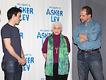 Ari Brand, Chaim Potok's widow Adena Potok and Playwright Aaron Posner attends the Meet & Greet for the new Off-Broadway Play 'My Name Is Asher Lev'  at the Davenport Studios on 10/22/2012 in New York City.