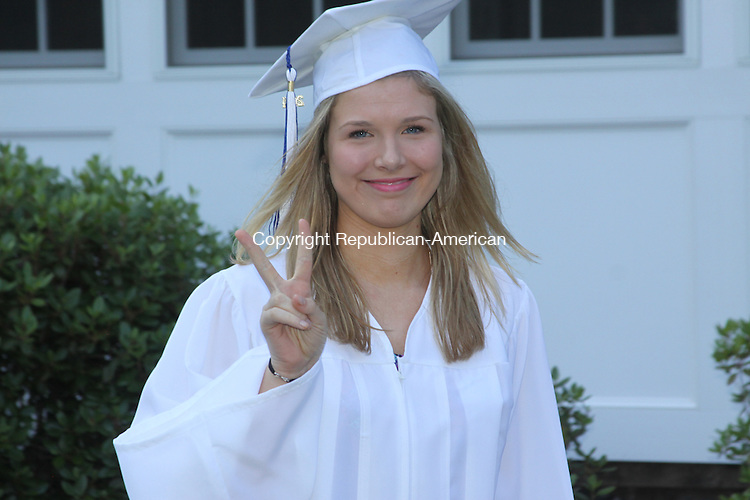 LITCHFIELD. CT - 17 June 2014 - 061714JM04 - HaleyColeman of Southbury was among the graduates at the Foothils Adult and Continuing Education commencement exercises at Education Connection in Litchfield on Tuesday. John McKenna Photo