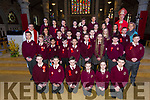 Miss Crays 6th Class Sixth class students from Moyderwell Primary school Tralee were confirmed by Bishop Ray Browne and Fr. Bernard Healy with their princi[pal Moira Quinlan at St. John's Church Tralee on Thursday