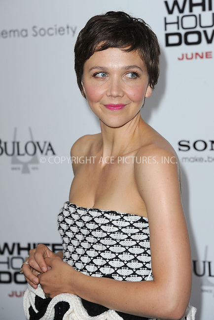 WWW.ACEPIXS.COM<br /> June 25, 2013...New York City <br /> <br /> Maggie Gyllenhaal attending 'White House Down' New York Premiere at Ziegfeld Theater on June 25, 2013 in New York City.<br /> <br /> Please byline: Kristin Callahan... ACE<br /> Ace Pictures, Inc: ..tel: (212) 243 8787 or (646) 769 0430..e-mail: info@acepixs.com..web: http://www.acepixs.com