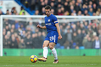 Cesar Azpilicueta of Chelsea during the Premier League match between Chelsea and Newcastle United at Stamford Bridge, London, England on 2 December 2017. Photo by David Horn.