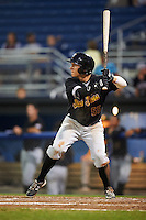West Virginia Black Bears right fielder Ty Moore (55) at bat during a game against the Batavia Muckdogs on August 20, 2016 at Dwyer Stadium in Batavia, New York.  Batavia defeated West Virginia 7-2.  (Mike Janes/Four Seam Images)