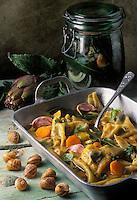 Gastronomie générale / Cuisine générale : ravioles d'escargots au court-bouillon