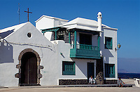 Spanien, Kanarische Inseln, Lanzarote, am Hafen von La Galeta de Famara