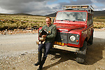 """Tony Heathman, owner of the Estancia, 3000 sheeps near stanley. He's a """"kelper"""" he's born here and has always lived in Falklands."""