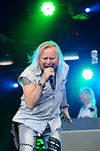URIAH HEEP - vocalist Bernie Shaw - performing live on Day One of the Ramblin' Man Fair in Mote Park Maidstone Kent UK - 23 Jul 2016. Photo credit: Zaine Lewis/IconicPix