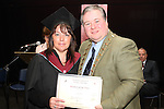 Joanne McDonnell who recieved the Student of the Year Award for Business Administration at the DIFE Graduation in The Barbican...Picture Jenny Matthews/Newsfile.ie