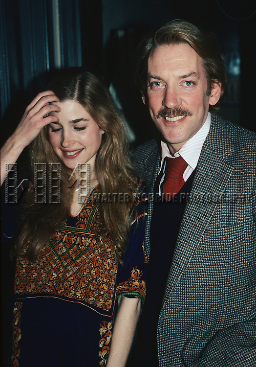 Donald Sutherland and Blanche Baker in New York City in 1981.