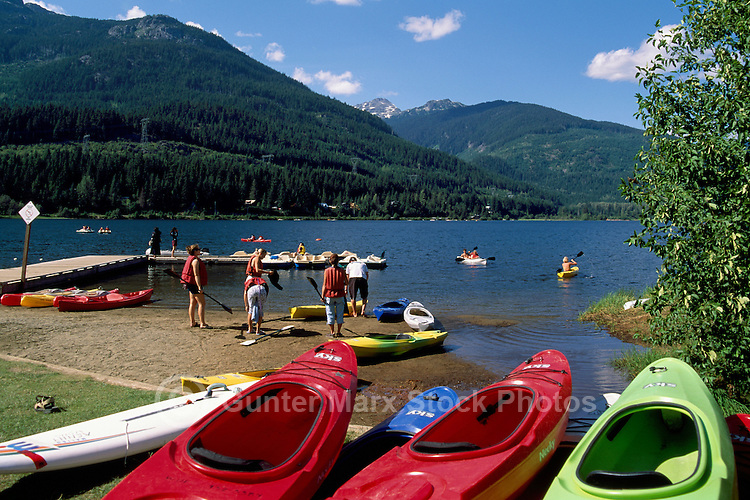 Whistler, BC, British Columbia, Canada - Kayaking on Alta Lake, Summer