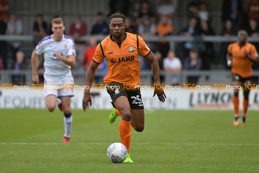 Jean-Louis Akpa Akpro of Barnet during Barnet vs Luton Town, Sky Bet EFL League 2 Football at the Hive Stadium on 12th August 2017