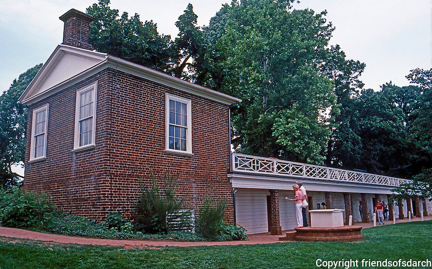 Thomas Jefferson: Monticello--Guest House, Kitchens, Cellars, etc.  Photo '85.