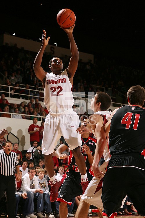 Stanford, CA - DECEMBER 28:  Guard Kenny Brown #22 of the Stanford Cardinal during Stanford's 111-66 win against the Texas Tech Red Raiders on December 28, 2008 at Maples Pavilion in Stanford, California.