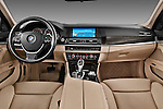 Straight dashboard view of a 2013 BMW 5 Series 530d Wagon