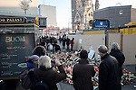 21.12.2016, BERLIN Breidscheidtplatz. Terror Attacks in Berlin. Two men drove a stolen truck in to a crowd on a christmas market on Berlin's Breidscheidtplatz/Kurfürstendamm killing 12 and injuring at least 40 people. Reported to be terrorist act, IS claimed responsibility.