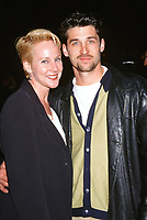 LOS ANGELES - FEB 2:  Carrie Gerlach, Patrick Dempsey at the Stock Photo at the Unknown on February 2, 1996 in Los Angeles, CA