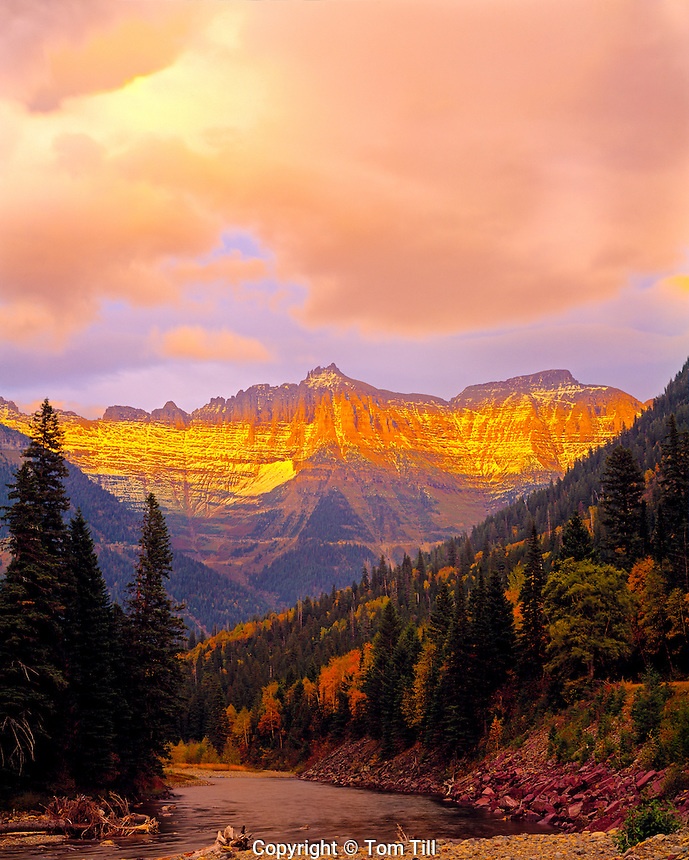 Glacier peaks, Going to the Sun Road, Glacier National Park, Montana    Rocky Mountains