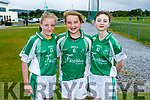 At the 4th annual Sandra Keane u/13 ladies football blitz in the John Mitchels sports complex on staurday were Shuin Fitzgibbon, Aoife Barrett, Sienna Lucey from Na Gaeil Ladies
