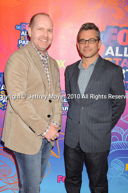 SANTA MONICA, CA. - August 02: Mike Henry , Richard Appel arrive at the FOX 2010 Summer TCA All-Star Party at Pacific Park - Santa Monica Pier on August 2, 2010 in Santa Monica, California.