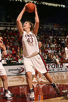 4 December 2005: Kristen Newlin during Stanford's 74-67 loss to Tennessee at Maples Pavilion in Stanford, CA