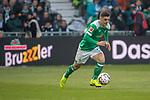 13.04.2019, Weser Stadion, Bremen, GER, 1.FBL, Werder Bremen vs SC Freiburg, <br /> <br /> DFL REGULATIONS PROHIBIT ANY USE OF PHOTOGRAPHS AS IMAGE SEQUENCES AND/OR QUASI-VIDEO.<br /> <br />  im Bild<br /> <br /> Milot Rashica (Werder Bremen #11)<br /> Einzelaktion, Ganzkörper / Ganzkoerper<br /> <br /> Foto © nordphoto / Kokenge