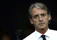 International friendly football match France vs Italy, Allianz Riviera, Nice, France, June 1, 2018. <br /> Italy's national team coach Roberto Mancini looks on prior to the international friendly football match between France and Italy at the Allianz Riviera in Nice on June 1, 2018.<br /> UPDATE IMAGES PRESS/Isabella Bonotto