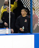 Brian Dumoulin (BC - 2), Malcolm Lyles (BC - 23) - The Boston College Eagles defeated the Yale University Bulldogs 9-7 in the Northeast Regional final on Sunday, March 28, 2010, at the DCU Center in Worcester, Massachusetts.