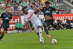20.07.2018, Zillertalarena, Zell am Ziller, AUT, FSP, 1.FBL, SV Werder Bremen (GER) vs 1. FC Koeln (GER), im Bild<br /> <br /> Jhon Córdoba / Cordoba (Koeln #15) Theodor Gebre Selassie (Werder Bremen #23)<br /> <br /> Foto © nordphoto / Kokenge