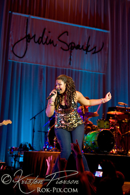 Jordin Sparks performing at House Of Blues in Boston on June 13, 2010