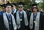Joseph Bonner, Jason Alosi and David Anderson during the University of Nevada College of Business and Division of Health Sciences graduation ceremony on Friday morning, May 19, 2017.