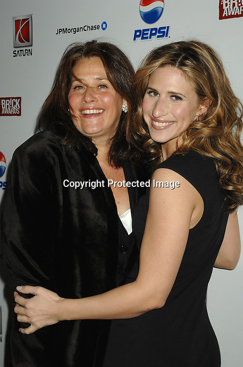 Lorraine Bracco and daughter Margo..at The Do Something Brick Awards on April 10, 2007 at The Nokia Theatre in New York City. The Brick Awards are..given to young people under 25 who change the world with their foundations. The show will be air on the CW on April 12, 2007..Robin Platzer, Twin Images..