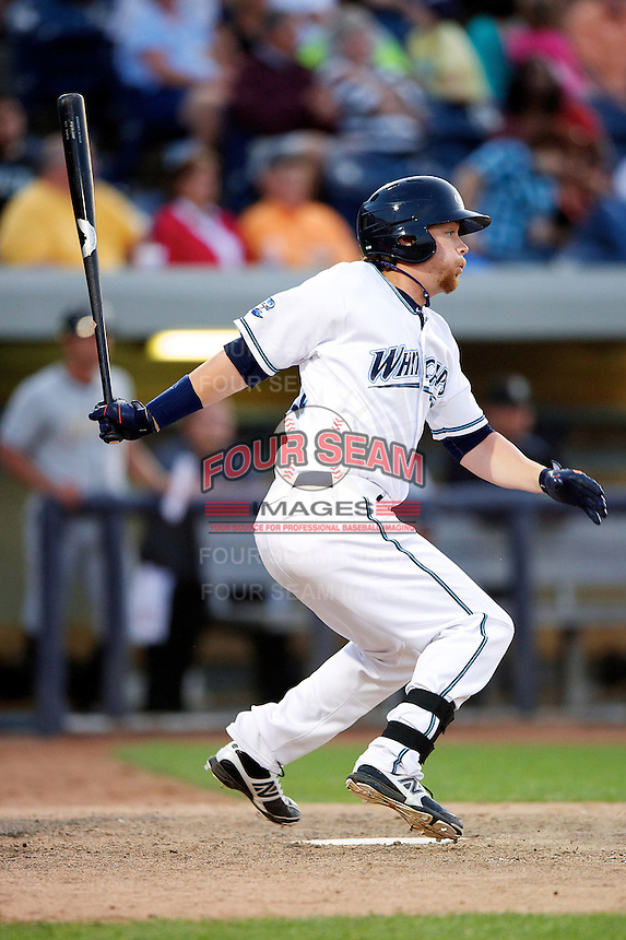 West Michigan Whitecaps Jeff Holm #31 during a game against the Bowling Green Hot Rods at Fifth Third Ballpark on June 26, 2012 in Comstock Park, Michigan.  West Michigan defeated Bowling Green 13-11.  (Mike Janes/Four Seam Images)