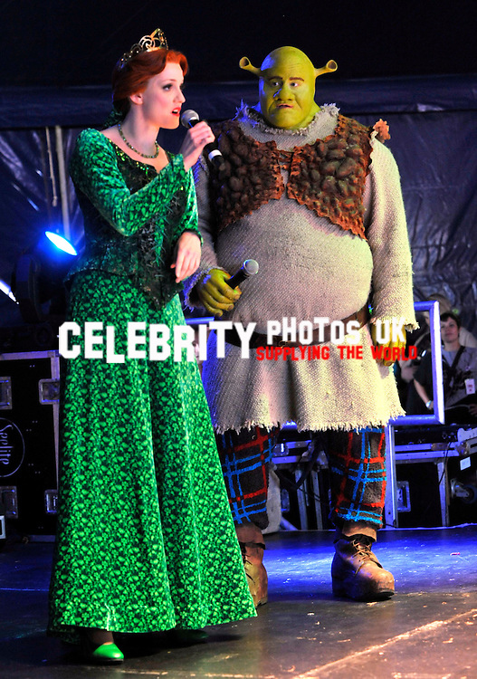Shrek The Musical festival exclusive a west end show played at a festival camp bestival lulworth castle dorset 30/07/2011