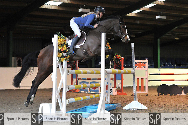Class 6. Area 40 British showjumping christmas show. Seniors. Brook Farm Training Centre. Essex. UK. 02/12/2018. ~ MANDATORY Credit Garry Bowden/Sportinpictures - NO UNAUTHORISED USE - 07837 394578