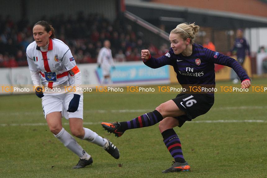 Kim Little scores the third goal for Arsenal - Arsenal Ladies vs ASD Torres - UEFA Womens Champions League Quarter-Final 1st Leg Football at Boreham Wood FC - 20/03/13 - MANDATORY CREDIT: George Phillipou/TGSPHOTO - Self billing applies where appropriate - 0845 094 6026 - contact@tgsphoto.co.uk - NO UNPAID USE.