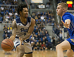 Nevada guard Nisre Zouzoua (5) looks to pass the ball against South Dakota State in the first half of an NCAA college basketball game in Reno, Nev., Saturday, Dec. 15, 2018. (AP Photo/Tom R. Smedes)
