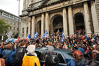 Montreal  (QC) CANADA - Oct 3 2009 - Family and PQ members gather to pay tribute filmmaker and separatist figure Pierre Falardeau, Oct 3rd 2009 at Saint-Jean-Baptiste church in Montreal.