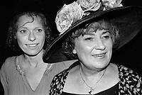 Louise Lasser and Bella Abzug 1981<br /> Photo By Adam Scull/PHOTOlink.net