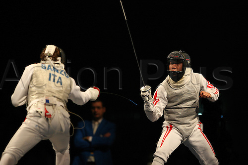Yuki Ota (JPN), AUGUST 13, 2008 - Fencing : Yuki Ota of Japan against Salvatore Sanzo of Italy in the Men's Individual Foil Semifinal 2 fencing event during Day 5 of the Beijing 2008 Olympic Games at the Fencing Hall on August 13, 2008 in Beijing, China. Photo by Koji Aoki/Actionplus. UK Licenses Only
