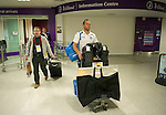 St Johnstone v Eskisehirspor....19.07.12  Uefa Cup Qualifyer.Keeper Alan Mannus in arrivals at Edinburgh Airport after the flight back from Turkey.Picture by Graeme Hart..Copyright Perthshire Picture Agency.Tel: 01738 623350  Mobile: 07990 594431