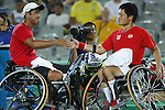 Shingo Kunieda &amp; Satoshi Saida (JPN),<br /> SEPTEMBER 13, 2016 - Wheelchair Tennis : <br /> Men's Doubles Semi-Final<br /> at Olympic Tennis Centre<br /> during the Rio 2016 Paralympic Games in Rio de Janeiro, Brazil.<br /> (Photo by Shingo Ito/AFLO)