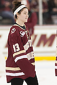 Haley McLean (BC - 13) - The Boston College Eagles defeated the visiting University of Connecticut Huskies 3-2 on Saturday, January 24, 2015, at Kelley Rink in Conte Forum in Chestnut Hill, Massachusetts.
